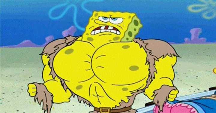 spongebob-bodybuilder